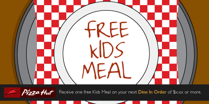 Illustrative coupon for a free kids meal