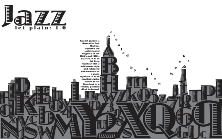 Typography Poster, letters make up a city